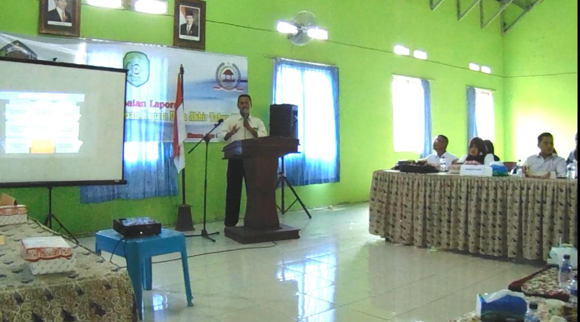 Ketua BPD. Suhuri A.Md.Hut menyampaikan Pandangan Umum