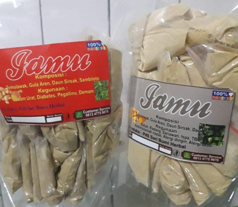 Pandu Digital Desa Bhuana Jaya  mempromosilan produk jamu herbal yang dikelola UMKM